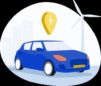 illustration - voiture électrique